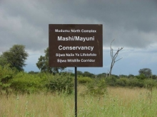 Mashi-Mayuni sign. Photo: Simon Mayes