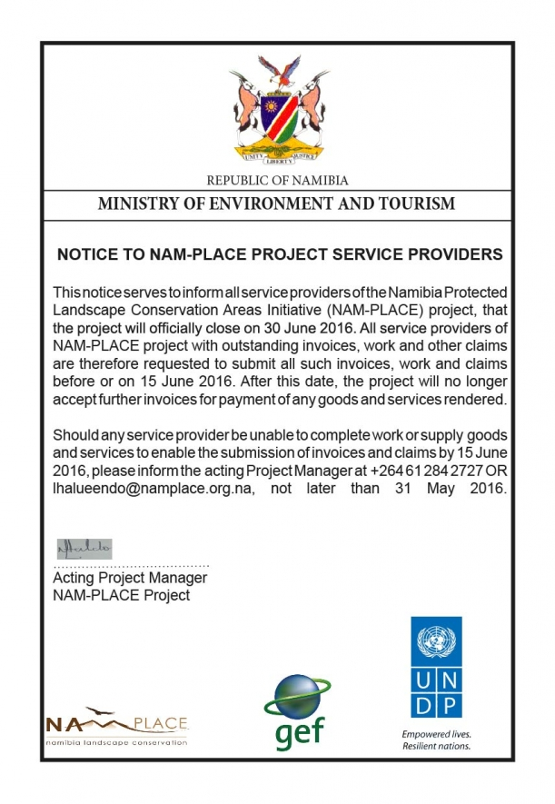 Notice to all service providers