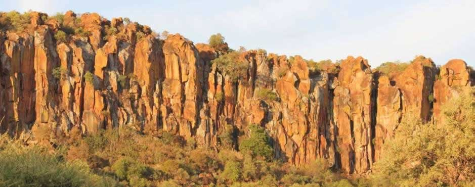 The dramatic cliffs of the Waterberg Plateau in the Greater Waterberg landscape